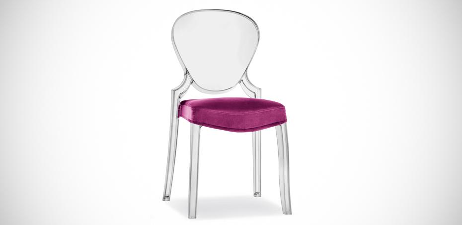 Sedia design in policarbonato Queen di Pedrali, designer Dondoli Pocci